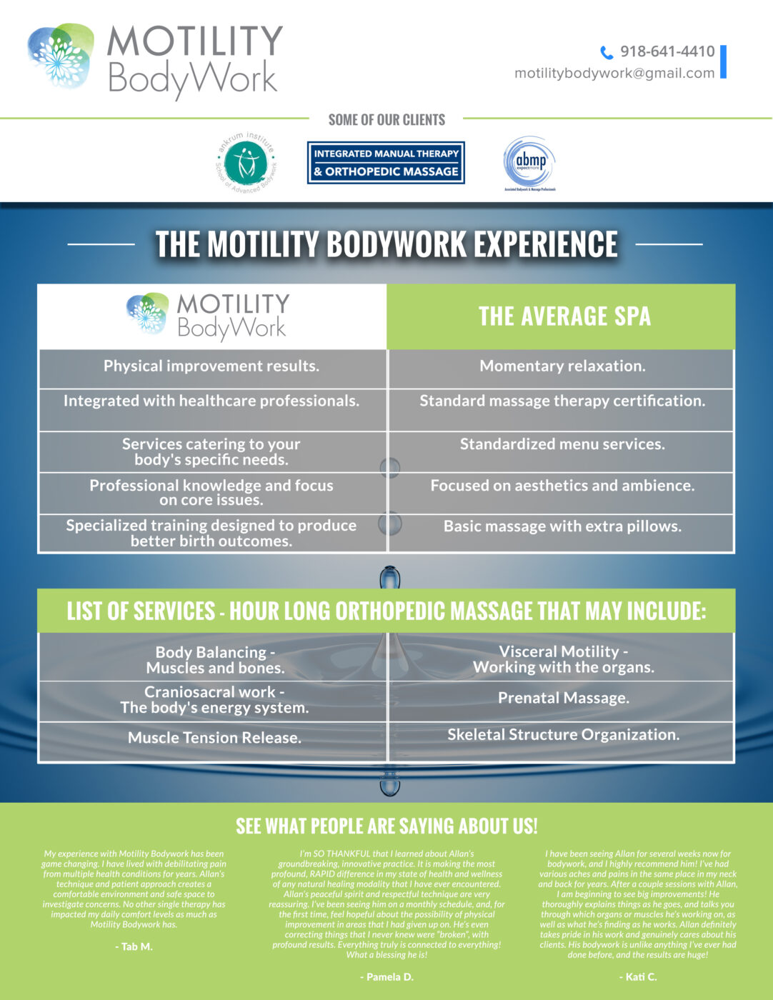One Sheet Front Version 3 Mobility Body Work